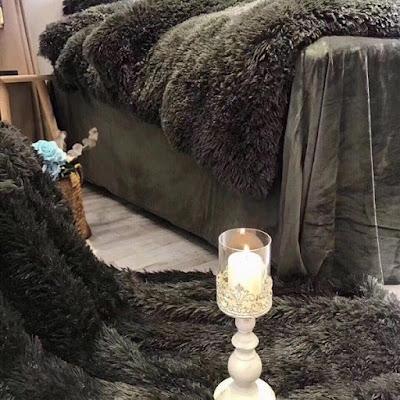 Bộ chăn ga nỉ nhung màu đen