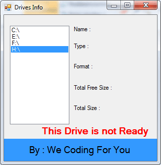 Drives Info Source Code