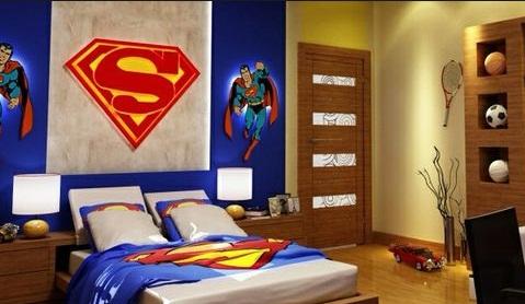 Tema Kamar Anak Sangat Praktis Hanya Dengan Tokoh Kartun Yang Disukai Menjadikan Kamar Nyam Kamar Tidur Anak Ala Superman