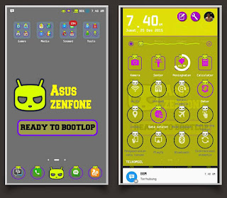 Tema Android Themes Asus Zenfone 5 Cyan Purple