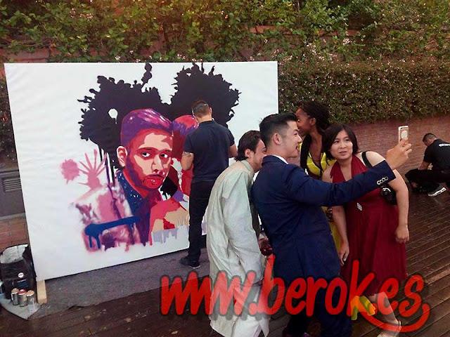Exhibición de graffiti para boda india