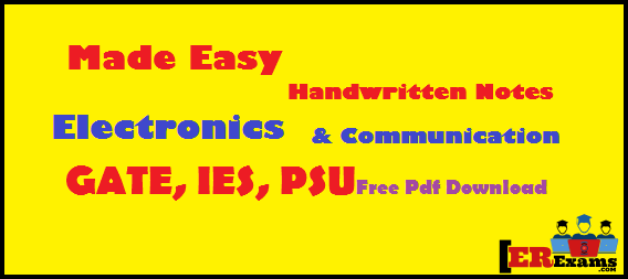 Update Made Easy Hand Written Notes Electronics For GATE IES PSU