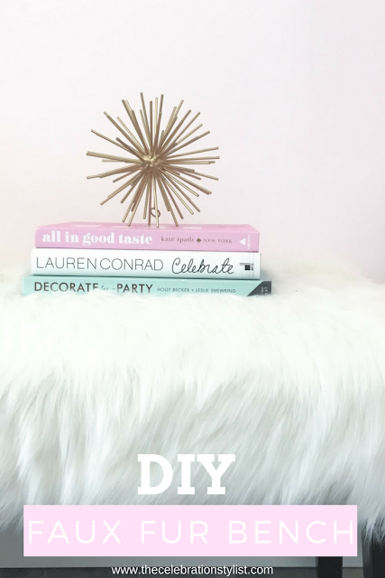 DIY Faux Fur Bench by The Celebration Stylist