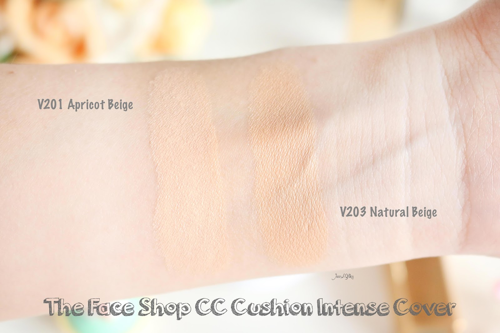 the face shop, the face shop cushion, the face shop cc cushion, cc cushion, cushion, cc cushion ultra moist, cc cushion intense cover, tfs, review, review cushion, beauty blog, natural beige, apricot beige