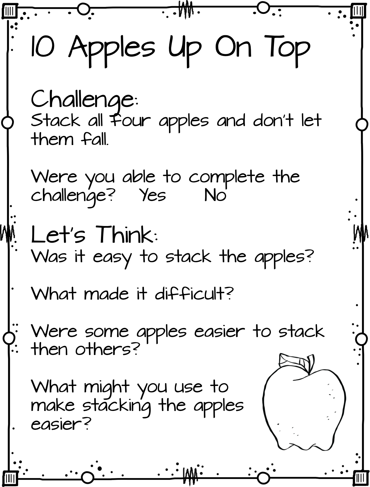1st Grade Hip Hip Hooray Amazing Apple Activities