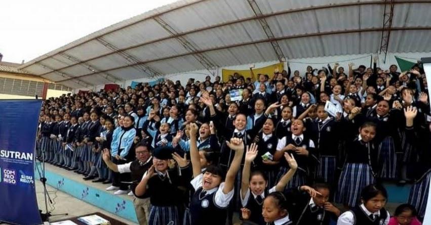 SUTRAN capacita a más de 600 conductores y escolares de Huánuco - www.sutran.gob.pe