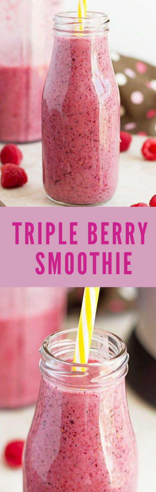 TRIPLE BERRY SMOOTHIE #smoothie #drink