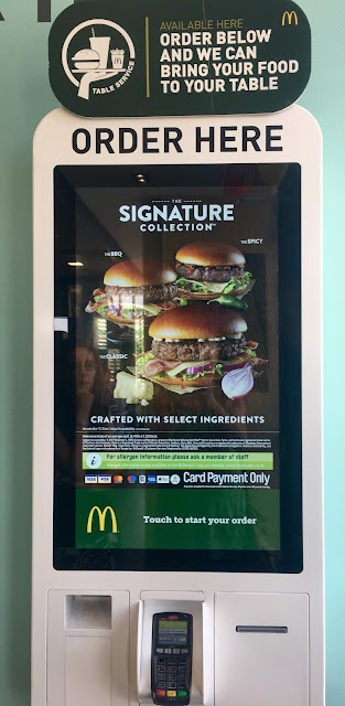 McDonald's touch screen ordering stations