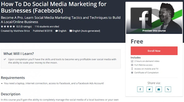 [100% Free] How To Do Social Media Marketing for Businesses (Facebook)