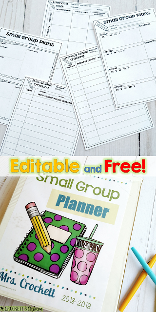 What goes on during your literacy block time?  Find out the three parts I include in my literacy block.  Plus, this small group planner can be yours!