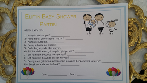 Bademlebuduk Baby Shower Partisi
