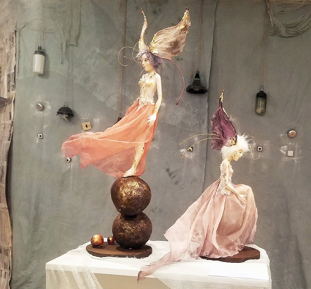 """Наталья Стукалова  композиция """"Бабочки"""", пять историй старого дома, выставка авторской куклы"""