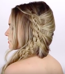 4 Strand Lace Braid Hairstyle Tutorial