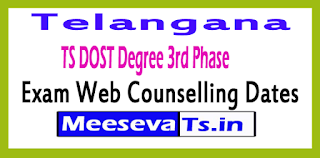 TS DOST Degree 3rd Phase Web Counselling Dates