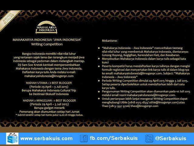 Kontes Blog Jiwa Indonesia Berhadiah Gadget per 2 Minggu
