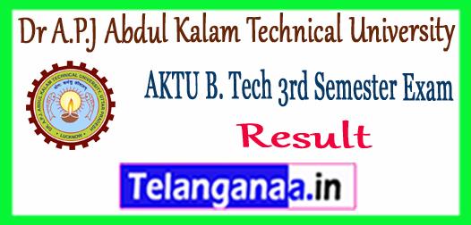 AKTU Dr A.P.J Abdul Kalam Technical University B.Tech 3rd Semester Result 2017-18