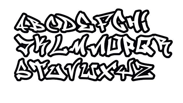 Graffiti ABC Einfach, graffiti buchstaben, graffiti schrift