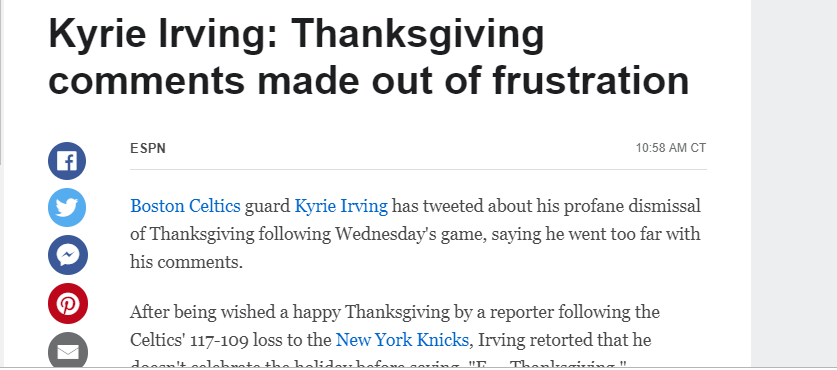 4e0cb251383 The first Thanksgiving happened in 1621 which was during the reign of King  James. Notice how we also got a story of Kyrie Irving ...
