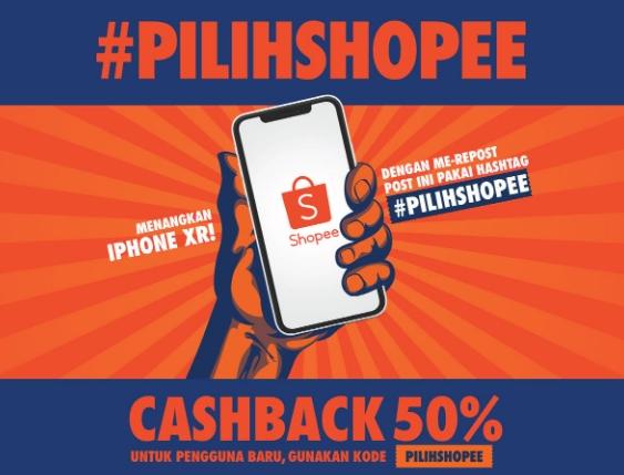 Chasback 50 Persen Untuk Pengguna Baru Di Shopee | Februari 2019