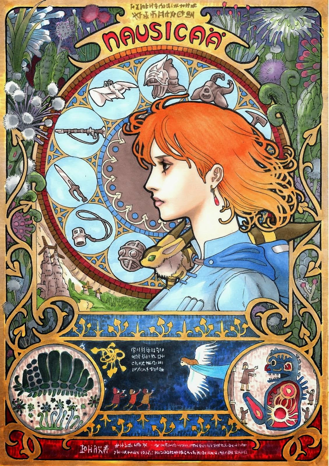 Art Nouveau Studio Ghibli Poster Designs 9119f62f0d