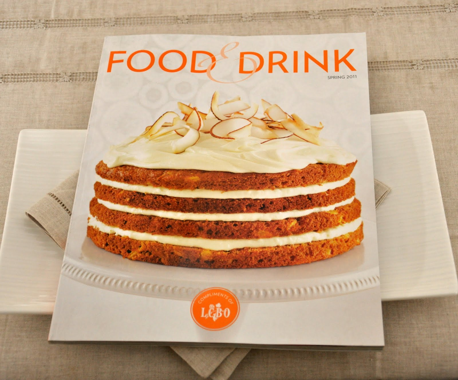 drink food lcbo magazine spring issue recipes cake music discover