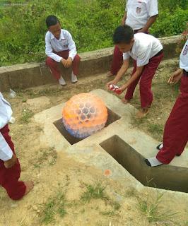tutorial cara membuat Lampion oleh anak SD