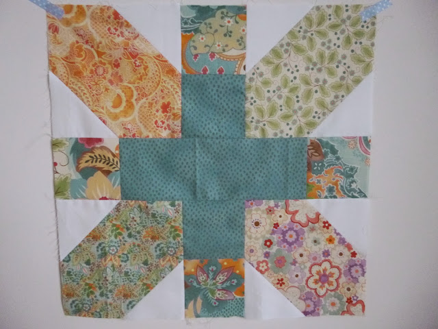 """Giant 20"""" x&+ block cutting instructions by fabricandflowers 