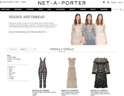 The Sarees you can buy from Net-A-Porter by Needle & Thread