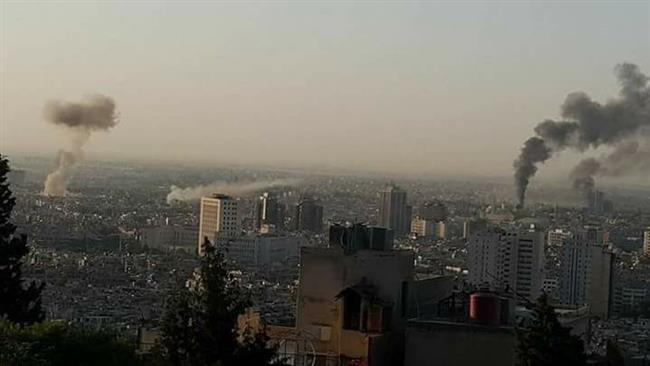 Multiple blasts, mortar rounds hit Syria's capital Damascus
