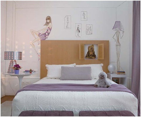 Lilac bedroom for girl. Purple violet bedrooms ideas
