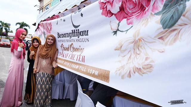 Pembukaan Butik Benang Hijau Terbaru di Wakaf Che Yeh, Kelantan