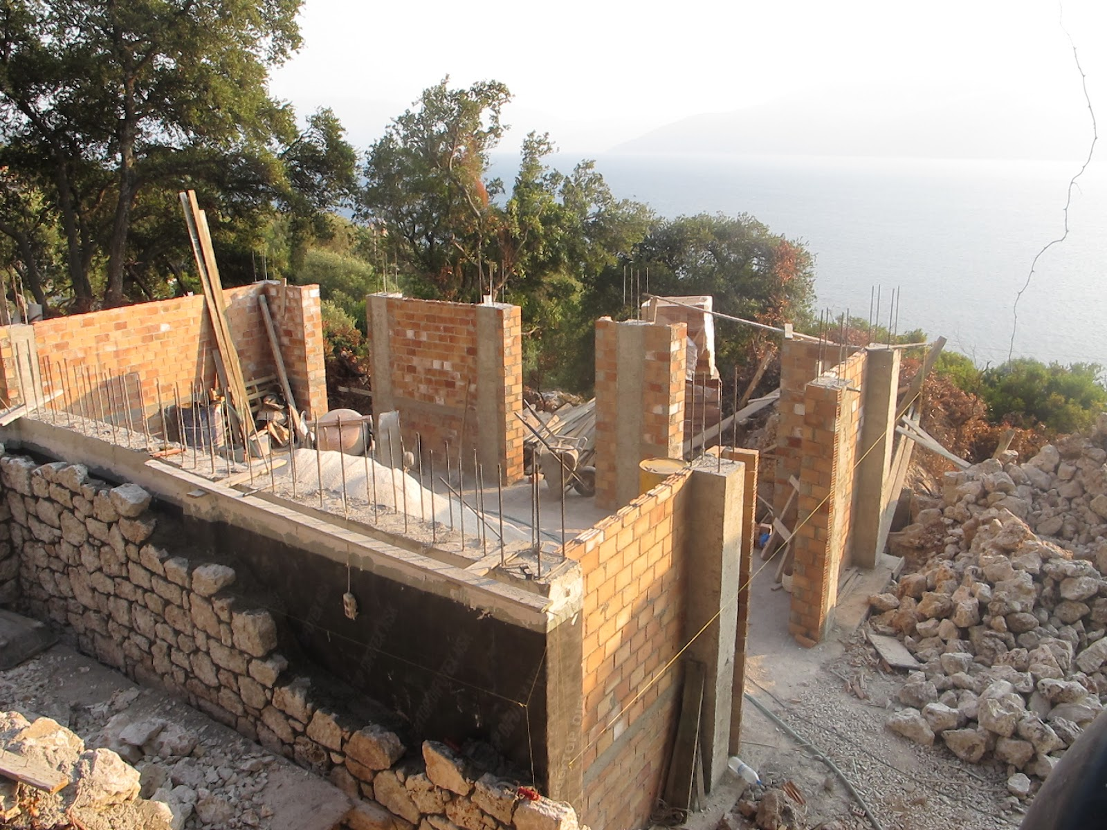 itha stone house  construction