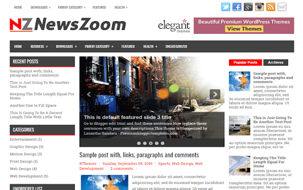 NewsZoom Free Blogger Template