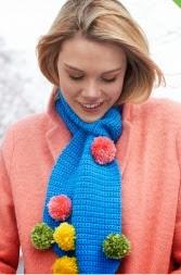 http://www.yarnspirations.com/pattern/crochet/pompom-scarf-0