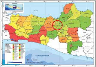 Letak geografis kota  Semarang sekitar 110° BT dan 7°LS