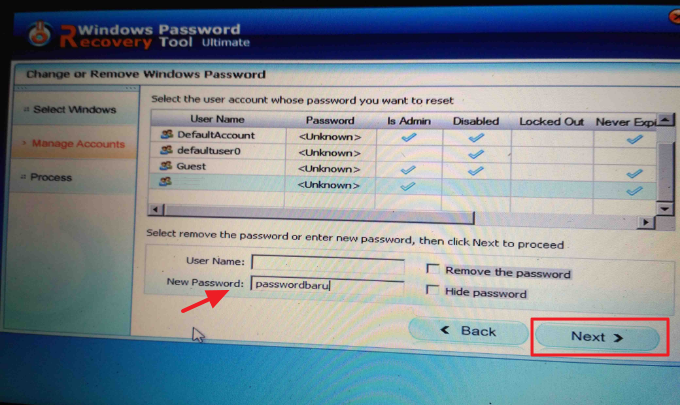Menginstal Windows Password Recovery Tool kedalam komputer
