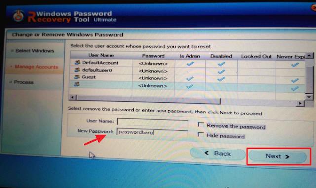 Menginstal Windows Password Recovery Tool kedalam komputer