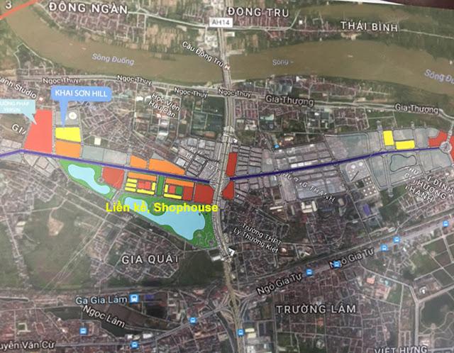 Vị trí của Khai Sơn City