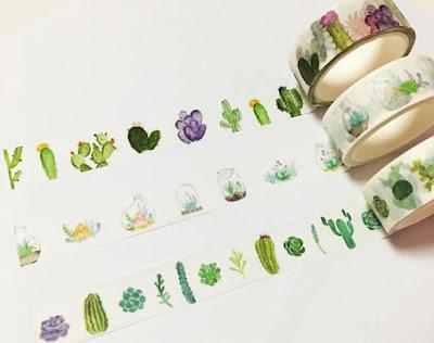 Cacti Washi Tape