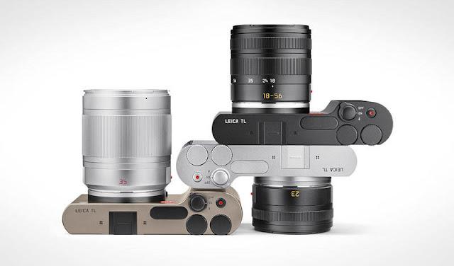 La Leica TL nei colori nero, argento e titanio anodizzato