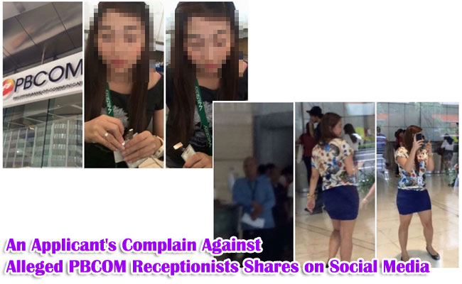 An Applicant's Complain Against Alleged PBCOM Receptionists Shares on Social Media