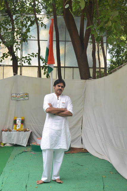 pawan kalyan flag hoisting jana sena party office photos%2B%25286%2529