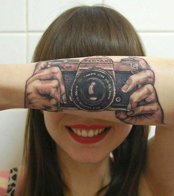 Creative Geeky Tattoo Art Design