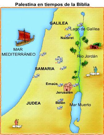 Resultado de imagen de palestina en la epoca de jesus mapa