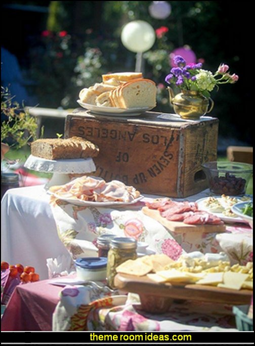 garden tea party decorating food
