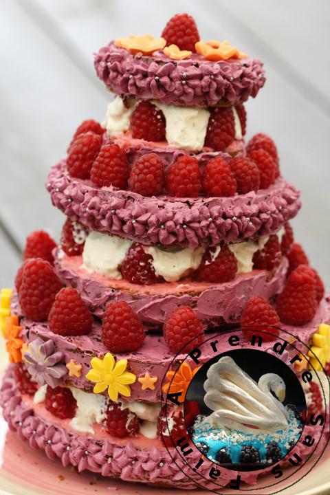Gâteau myrtilles framboises