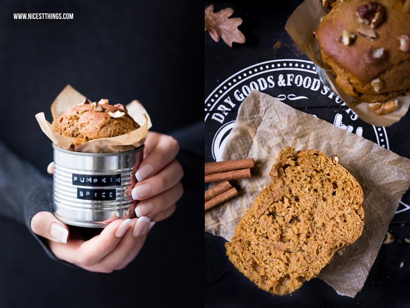 Pumpkin Spice Muffins mit Kichererbsen aus der Dose und Kürbis