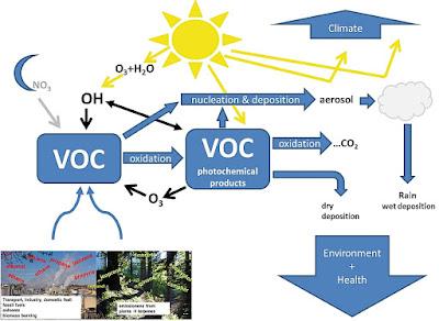 Relatie tussen VOC en aerosol productie