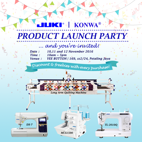 Juki Product Launch Party