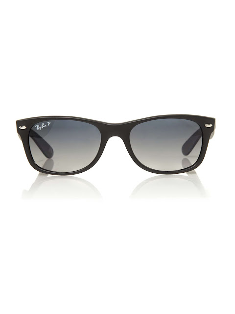 ray-ban unisex rb2132 black new wayfarer sunglasses
